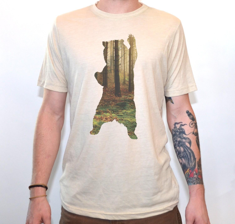 Bear T-Shirt Men's Graphic T Shirts Mens Tshirt
