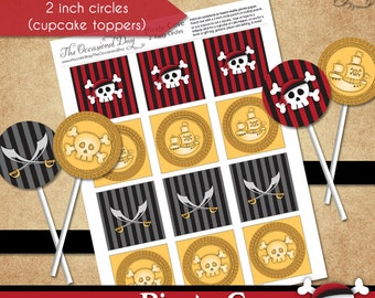 Pirate Cove 2 inch Circle Tags • PRINTABLE Birthday • Costume • by The Occasional Day