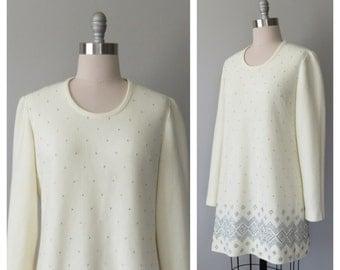 60s L'Aiglon knit dress size large / vintage mini dress / vintage knit dress / vintage mod dress
