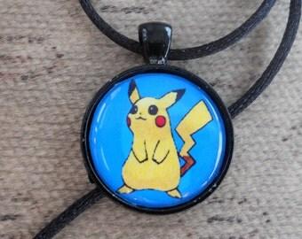 Pikachu pokemon pendant - cute charm - anime necklace - kawaii jewelry - geek