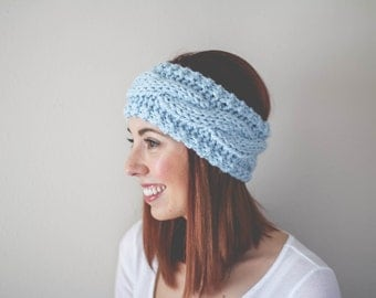 Cable Knit Headband //  Ear Warmer // Cozy Slip-on Accessory // Pinterest Favorite //  Winter Fashion