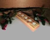 Wood Tea Light Candle Holder - Rustic Candle Holder