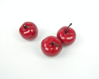Red Apple Hair Clip