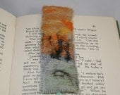 Embroidered and Felted Bookmark - Sunset