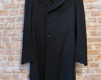 Edwardian Frock Coat - Antique - Steampunk - Black - Victorian - Mens Formal