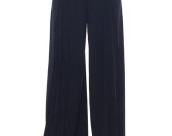 1990-1994 Fabulous Mugler Black Wide Cut Pants Size: S/M/L