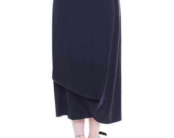 1980s Vintage Comme des Garcons Long Black Wrap Skirt  Size: S/M