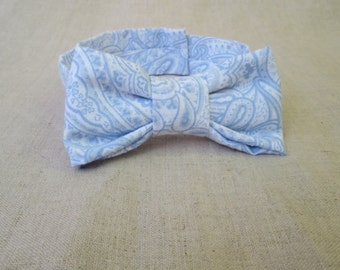 Boys Bow Tie - Baby Blue Paisley Bow Tie Newborn Photo Prop to 2 Year Old Boy Photo Prop - Blue Bow Tie - Toddler Bow Tie - Baby Bow Tie