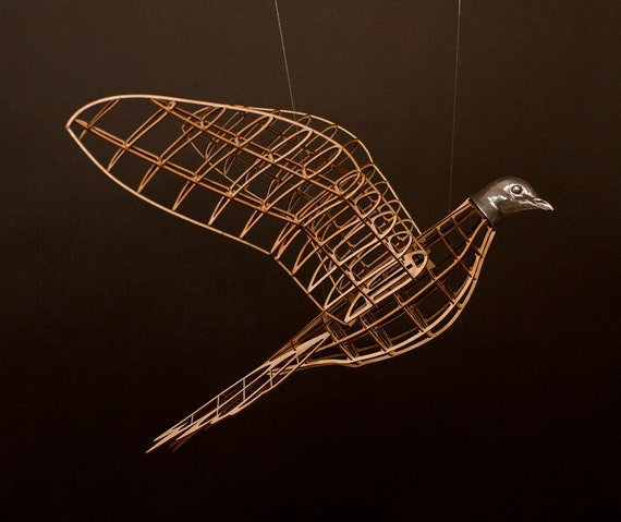 Passenger Pigeon Sculpture - one- model airplane style