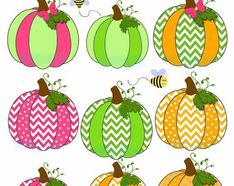 Pumpkin patch party clipart, Clip Art, Digital Scrapbook png Files Set of 11 CU