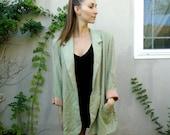 Vintage Light Green Blazer // Neutral Blazer // Traditional Blazer // Lightweight Blazer // Awesome Blazer