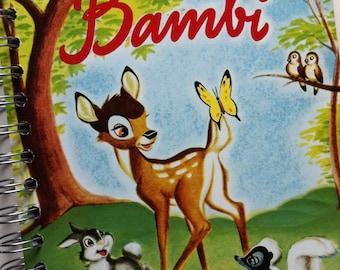 Bambi Little Golden Book Recycled Journal Notebook