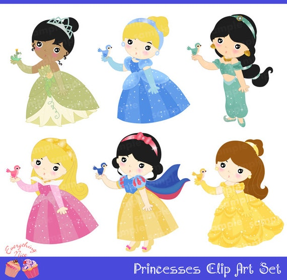 Princesses Clip Art Set