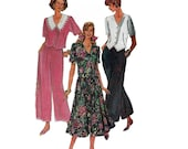 "1990's Simplicity 8480 Woman's Wide-Legged Pants, Skirt, Top in Size 8- 12 || Bust 31 1/2- 34"" /80- 86cm 