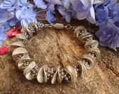 Fancy Detailed Silver Bracelet 8 Inches