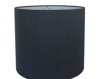 Custom Lamp Shade - Navy Lampshade - Navy Blue Lamp Shade - Linen Lampshade - Made to Order