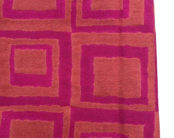 "Upholstery -  Fabric  3/4 yd x 36"" Fuschia and Red Orange"