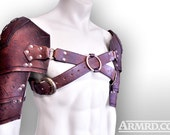 Barbarian double shoulder armour