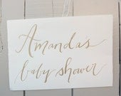 Hand Painted Calligraphy Sign