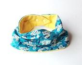 teething/ Drooling loop scarf Baby - spring flowers & yellow terry knit
