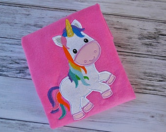 Personalized Rainbow Unicorn Shirt or Onesie - Custom Monogrammed Personalized Clothes
