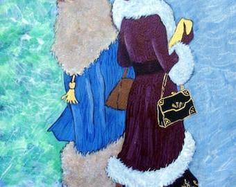 """Notecard Ladies in Art - """"Ladies Day Out"""" - Painting by Lorraine Skala"""