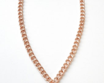 Marble Statement Necklace howlite rose gold statement jewelry HEART OF STONE