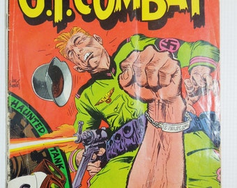 G.I. Combat Comic Book. DC. National Comics. Number 122. February - March 1967. Collectible Comics for Manly Men.