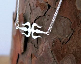 Trishul Necklace, Trishul Pendant, Trident Necklace, Trident Pendant