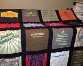 T Shirt Quilt 16 Block Memory Quilt Custom Order Quilt - Using Your Shirts-DEPOSIT ONLY
