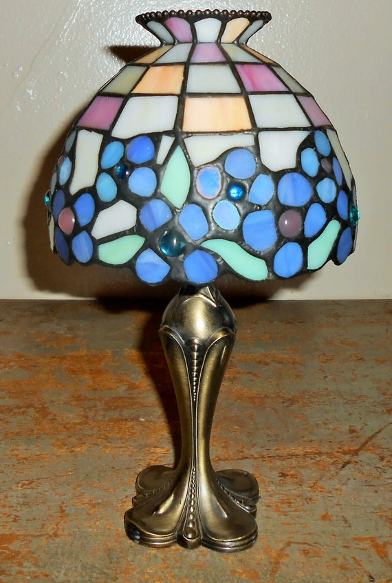 candle holder party lite tiffany style lamp hydrangea votive. Black Bedroom Furniture Sets. Home Design Ideas