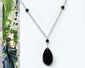 Sailor Pluto Ball Gown Inspired Necklace - Glass Crystal