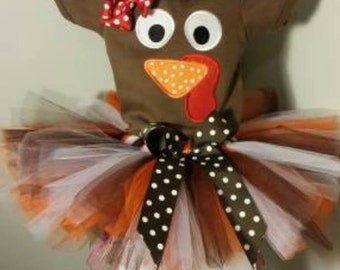 TURKEY FACE Shirt or Onsie for infants, Toddlers and girls!  Perfect for Thanksgiving!