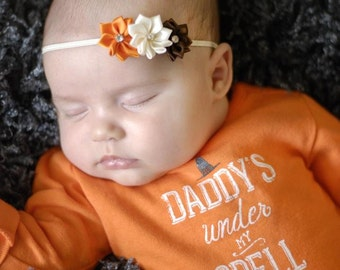 Fall Headband, Thanksgiving Headband, Vintage Baby Headband, Newborn Headband, Headbands, Infant Headbands, Headbands Babies, Headbands Baby