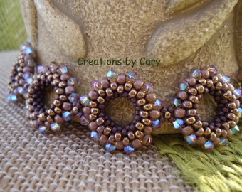 30% off every tutorial! Use coupon code WELCOME in the coupon area at checkout. Round and Around beaded bracelet pattern tutorial