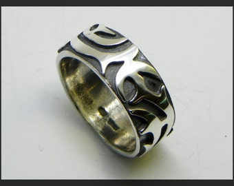 Tribal Ring in Sterling Silver 925