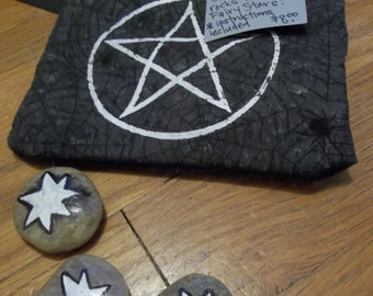 Faery Star Simple Divination Set with Pentacle Bag