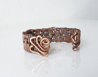 Handmade Copper Bracelet Cuff