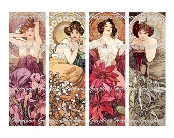 Alphonse Mucha Bookmarks 4 Art Nouveau Alphonse Mucha Tags