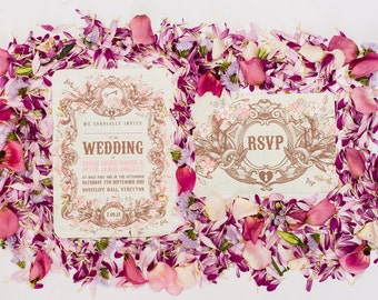 Secret Garden Wedding Invitation Sample