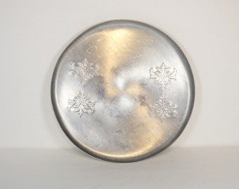 Vintage Round Aluminum Tray