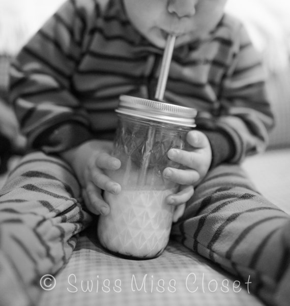 Adorable 12oz Mason Jar To Go Cup With Stainless Steel Straw Perfect for Little Hands Eco Friendly