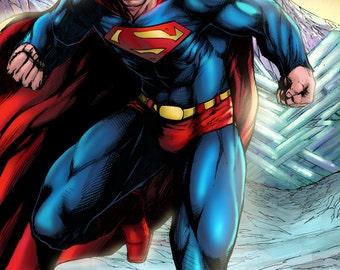 Superman 2014 Colored Print by Hanzozuken
