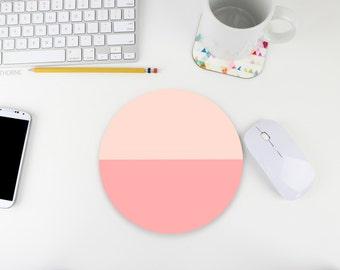 Color Block Mouse Pad / Mousepad / Pink Ombre