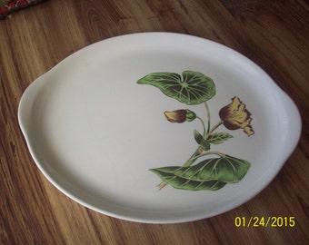 Vintage serving platter with handles