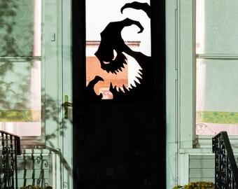 Halloween Vinyl Door Decal, Or Window - Oogie Boogie Silhouette, Can Be Custom Sized For Your Door Or Window