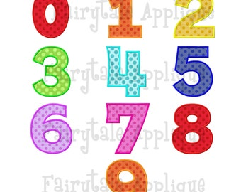 Digital Machine Embroidery Design - Number Set (0-9)