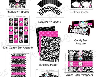 Pink Ice Skating Party Pack - Printable - Instant Download