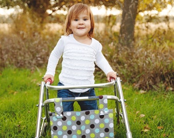 Polka Dot Walker Wheelchair Tote Bag Caddy