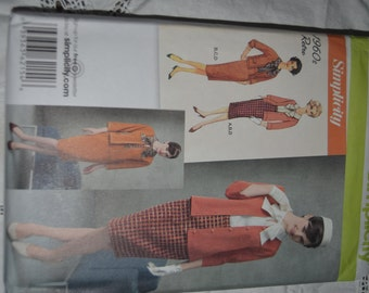 Retro 1960s Simplicity 2154 Misses-Miss Petite Blouse Skirt Jacket and Knit Cardigan Sewing Pattern - UNCUT  Size 6 -14 or Size 16 - 24